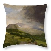 Approaching Storm  White Mountains Throw Pillow by Alvan Fisher