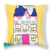 April Showers House Throw Pillow by Linda Woods