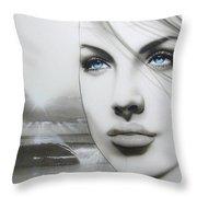 'aqua Marine' Throw Pillow by Christian Chapman Art