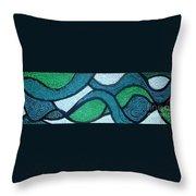 Aqua Motion Throw Pillow by Genevieve Esson