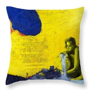 Aquarius Abstract Throw Pillow by Corporate Art Task Force
