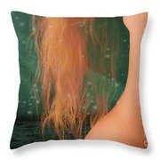 Aquarius... Throw Pillow by Nina Stavlund