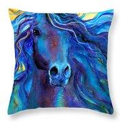 Arabian horse #3  Throw Pillow by Svetlana Novikova