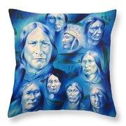 Arapaho Leaders Throw Pillow by Robert Martinez