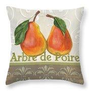 Arbre De Poire Throw Pillow by Debbie DeWitt
