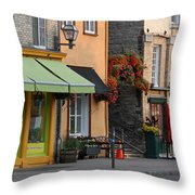 Arch Of Flowers In Old Quebec City Throw Pillow by Juergen Roth