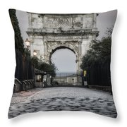 Arch Of Titus Morning Glow Throw Pillow by Joan Carroll