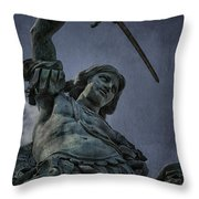 Archangel Michael Throw Pillow by Erik Brede