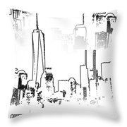 Architecture Of New York City Throw Pillow by Dan Sproul