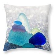 Arctic Peaks Throw Pillow by Barbara McMahon