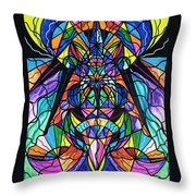 Arcturian Awakening Grid Throw Pillow by Teal Eye  Print Store