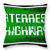 Area 51 Throw Pillow by Benjamin Yeager