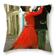 Argentina Tango Throw Pillow by James Shepherd