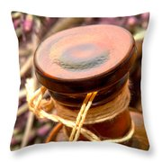 Aromatherapy Bottle Throw Pillow by Olivier Le Queinec