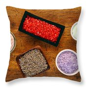 Aromatherapy Selection Throw Pillow by Olivier Le Queinec