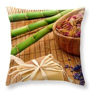 Aromatherapy Soap Bar Throw Pillow by Olivier Le Queinec