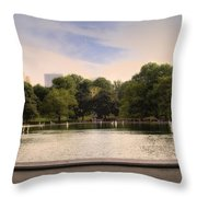 Around the Central Park Pond Throw Pillow by Madeline Ellis
