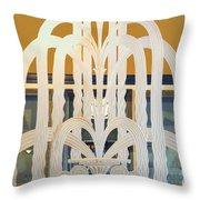 Art Deco Window Throw Pillow by Diane Wood