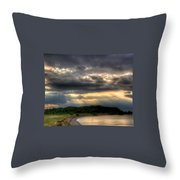 Art For Crohn's Lake Ontario Sun Beams Throw Pillow by Tim Buisman