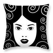 Art Nouveau Poster Throw Pillow by Frank Tschakert