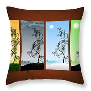 Art On The Wall Throw Pillow by Gianfranco Weiss