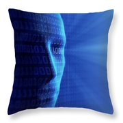 Artificial Intelligence Throw Pillow by Johan Swanepoel