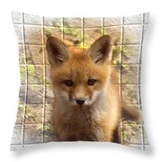 Artistic Cute Kit Fox Throw Pillow by Thomas Young