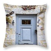 Artistic Door Throw Pillow by Georgia Fowler