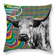 Arty Coo Really Mooved Throw Pillow by John Farnan