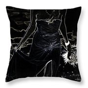 As Aphrodite Coming from Sea Foam. Black Art Throw Pillow by Jenny Rainbow