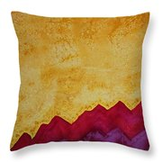 Ascension Original Painting Throw Pillow by Sol Luckman