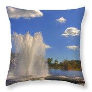 Aspetuck Reservoir Throw Pillow by Joann Vitali