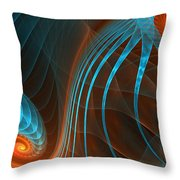 Astonished-fractal Art Throw Pillow by Lourry Legarde