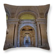 Astor Hall Throw Pillow by Susan Candelario