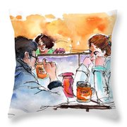 At Nashville Ihop Throw Pillow by Miki De Goodaboom