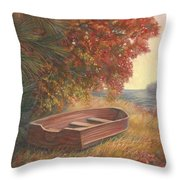 At Rest Throw Pillow by Lucie Bilodeau