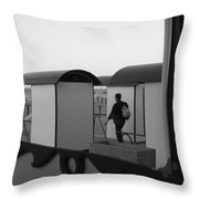 At the beach - monochrome Throw Pillow by Intensivelight