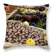 At The Market Throw Pillow by Brian Jannsen