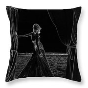 At The Natural Stage. Black Art Throw Pillow by Jenny Rainbow