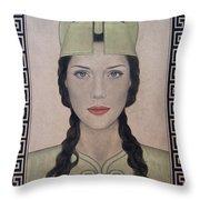 Athena Throw Pillow by Lynet McDonald