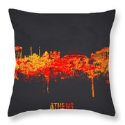 Athens Greece Throw Pillow by Aged Pixel