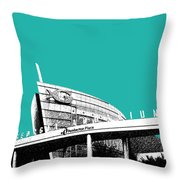 Atlanta Georgia Aquarium - Teal Green Throw Pillow by DB Artist