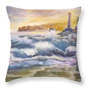 Atlantic Agitation Throw Pillow by Mohamed Hirji