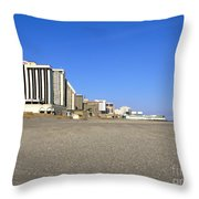Atlantic City New Jersey Throw Pillow by Olivier Le Queinec