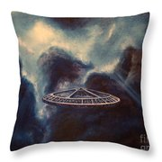 Atmospheric Arrival Throw Pillow by Murphy Elliott
