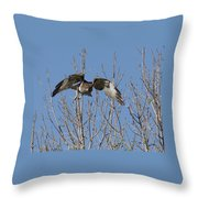 Attack Throw Pillow by Ernie Echols