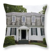 Augustine Moore House Yorktown Virginia Throw Pillow by Teresa Mucha