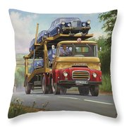 Austin Carrimore Transporter Throw Pillow by Mike  Jeffries