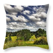 Australian Countryside - Floating Clouds Collage Throw Pillow by Kaye Menner