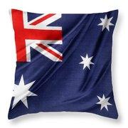 Australian Flag Throw Pillow by Les Cunliffe